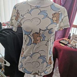 vintage ground zero shirt cute bear cloudy S TOP
